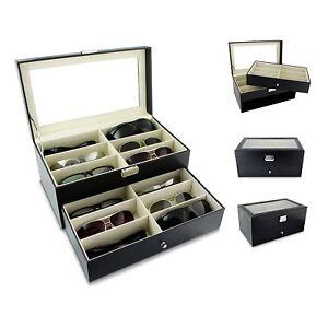 Trousse-pour-Garder-12-Lunettes-Noir-Environ-34x19x16-cm-de-Soleil-Presentation