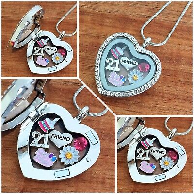 Personalised BIRTHDAY Gifts Floating Memory Locket Necklace 15th 16th 18th 60th