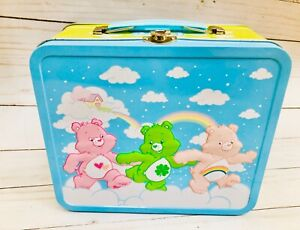 Care-Bears-Lunch-Box-Kit-Tin-Metal-2010-Rare-80-039-s-Characters-Storage-Container