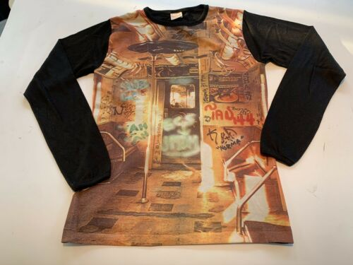 Vintage 70s Campus Expressions Long Sleeve Rayon T