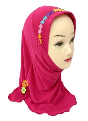 1 Piece Amira hijab underscarf hood Lycra NEW Girls Flowers