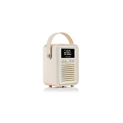 View Quest Retro Mini DAB+ Radio & Speaker - Cream (MINI-CR)