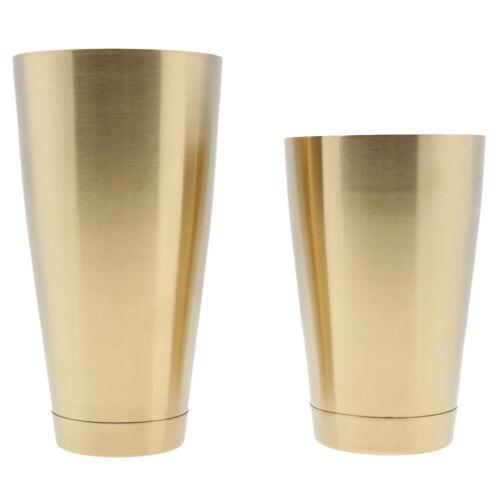 Cocktail Shaker Set Stainless Steel Bartender Boston Shaker Pourers Gold