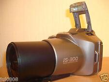 OLYMPUS IS-300 35MM FILM BRIDGE CAMERA~28-110MM 4X ZOOM LENS~TWIN FLASH (46JY12)