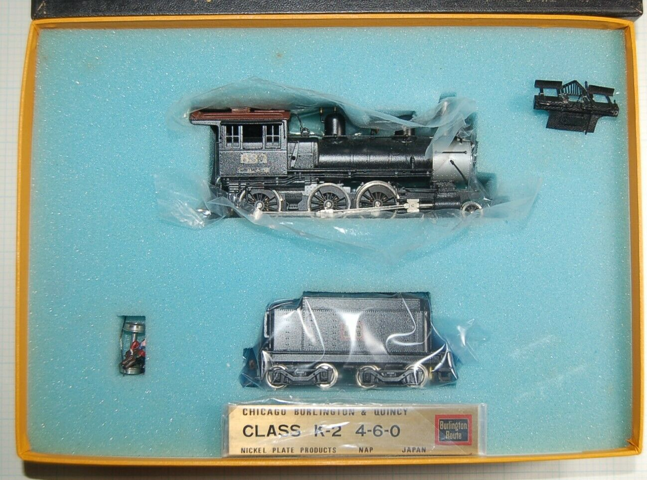 HO Scale Brass modello Train CB&Q'K-2'Dieci-ruedaer by Nickel Plate Products