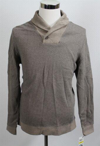 Neuf avec étiquettes Tasso Elba Homme Pull M//L//XL//2XL marron imprimé col châle 100/% coton