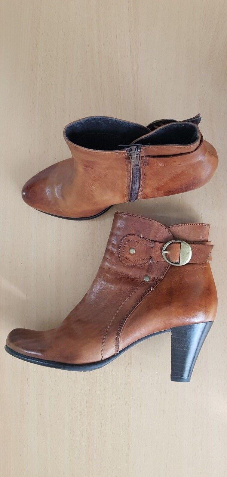 GÖRTZ Schuhe Damen Stiefel Stiefeletten Stiefel Pumps Leder Gr.39 TOP