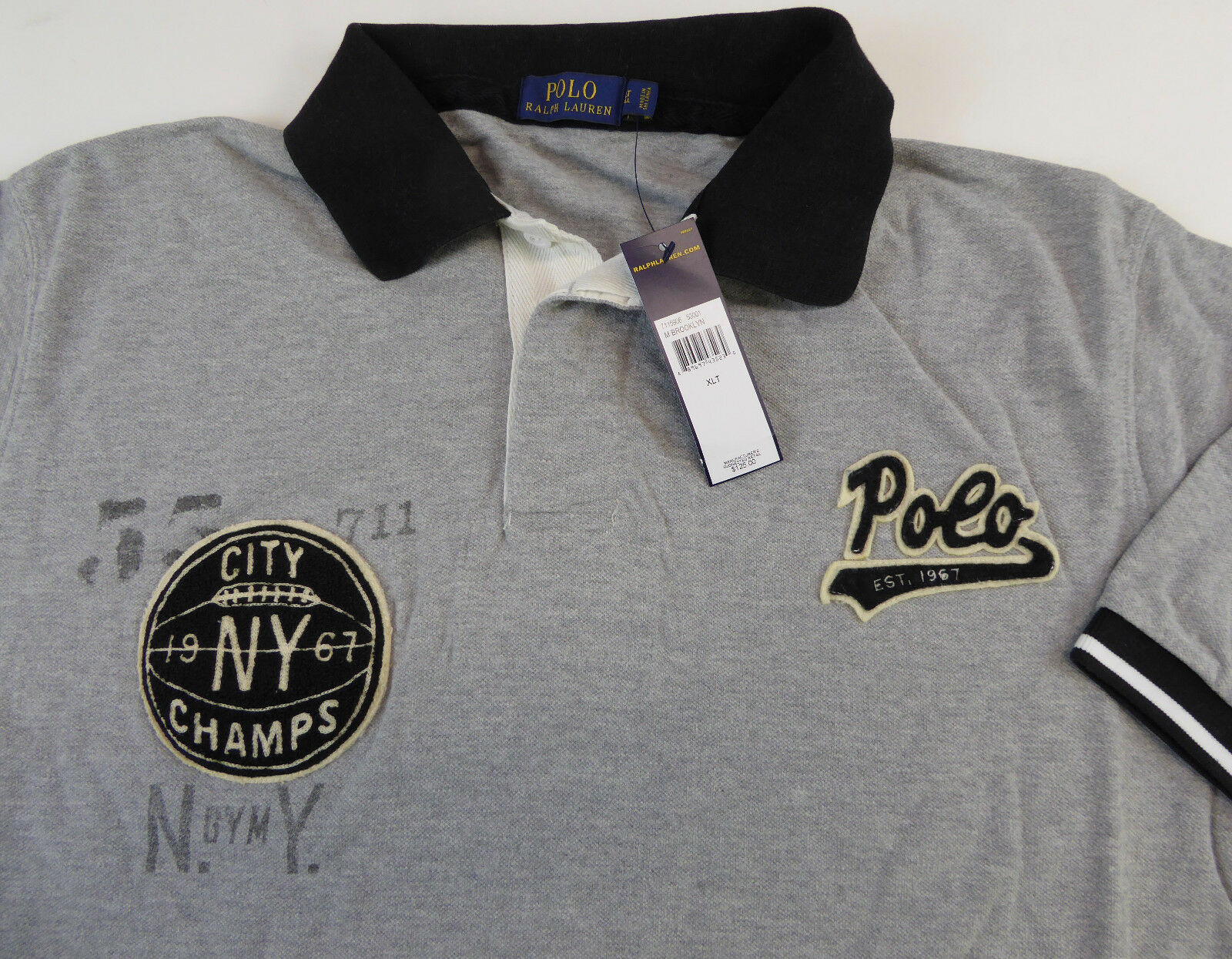 Polo Ralph Lauren SS Rugby Shirt  125 Brooklyn Basketball NY City Champs 67  NWT