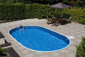 Details about In ground Swimming Pool Kit full package 24ft x 12ft +  Telescopic Pool Enclosure