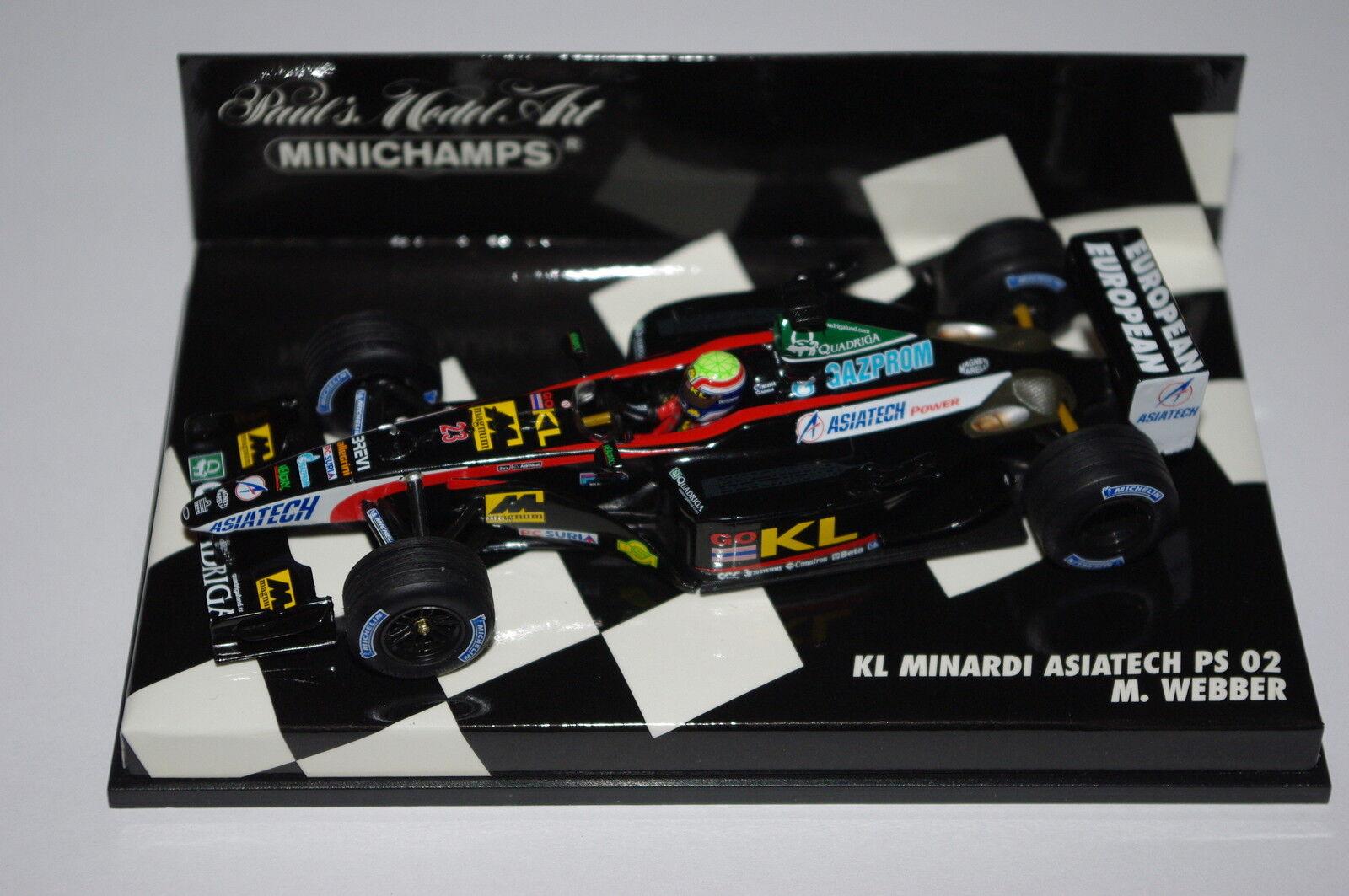 Minichamps F1 1 43 KL MINARDI ASIATECH PS 02 MARK WEBBER