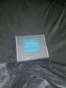 bella russo 2 piece queen sheet set steel gray new unopened ebay ebay