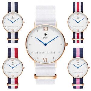 Reloj mujer TWIG KLEE blanco/oro clásico minimal vintage