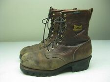 DISTRESSE BROWN CHIPPEWA CHIPP-A-TEX WATERPROOF WORK FARM LOGGER BOOTS 9.5 XW