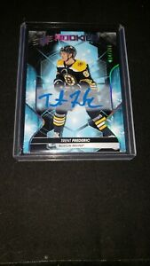 Trent-Frederic-2019-20-Upper-Deck-SPX-RC-Blue-Ink-Auto-299-Bruins