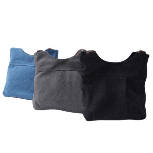 Ladies Simple Canvas Fashion Leisure Large Capacity Shoulder Bag Casual Tote WA