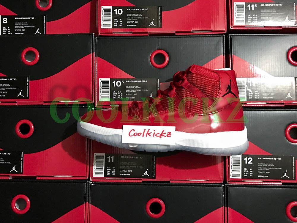 SHIP NOW Nike Air Jordan 11 XI Retro Win Like 96 Gym Red 3c-13 White 378037-623 Brand discount