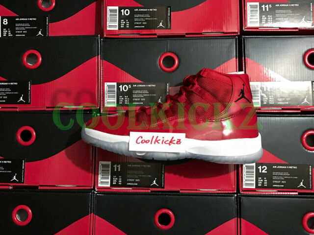 Men's Nike Air Jordan Win Like Mike 96 Retro 11 Size 16 Gym Red 378037 623