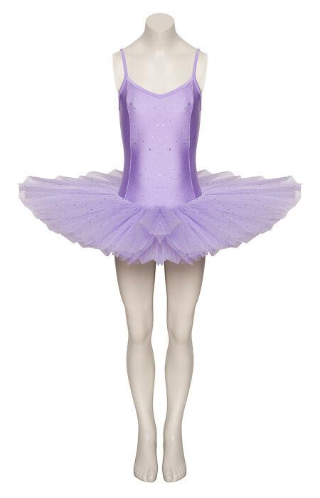 Lilac Sparkly Sequin Dance Ballet Leotard Tutu Childs Ladies Sizes By Katz
