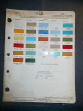 1974 DODGE TRUCK  DITZLER PPG COLOR CHIPS PAINT SAMPLES  COMMERCIAL