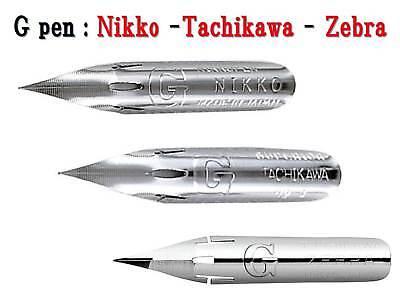 Zebra Tachikawa 3 Japanese G-nibs Nikko