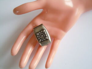 Alte Art Deco Dose Pillendose Versteck aus geprüftem Silber 21,4 g/3,7x2,3x1,9cm