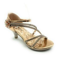 752d41d07e991 Delicacy Womens Angel Womens Strappy Rhinestone Sandal Low Heel Shoes - 9M  US