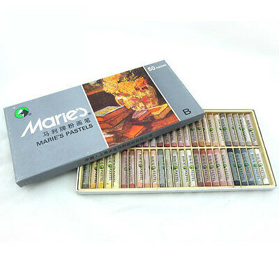 50 Colors Set Marie's Pastels Soft Drawing Art Square Chalk Painting Art NEW