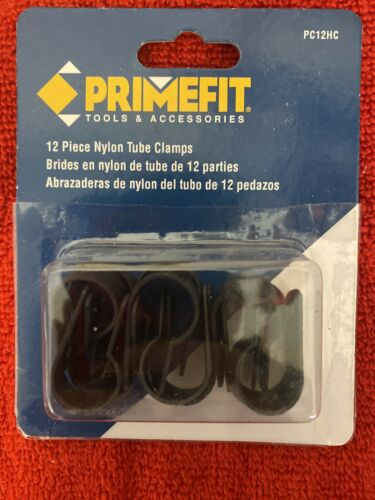 Primefit PC12HC 1//2-Inch Air Push to Connect Nylon Tube Clamps 12-Piece Kit