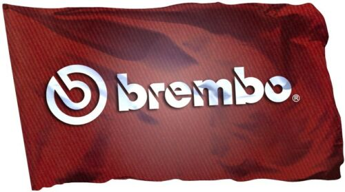 Brembo Flag Banner 3x5 ft Brake Car Racing Red Racing Man Cave