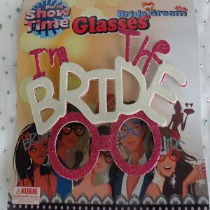 bride-groom-wedding-prop-glasses-novelty-black-white-pink-photobooth-photo-props