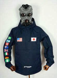 Huf Worldwide Skateboard Jacket Jacke Flags Anorak French Navy in M
