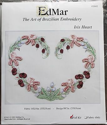 EdMar threads//choose fabric Chinese Columbine Brazilian embroidery kit #1703