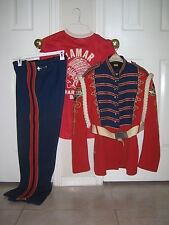 Vintage LAMAR HIGH SCHOOL Houston MARCHING BAND UNIFORM REDSKINS Fruhauf USED