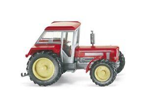 silber Wiking 1:87 Schlüter Super 1250 VL Schlepper Traktor 875 01 karminrot
