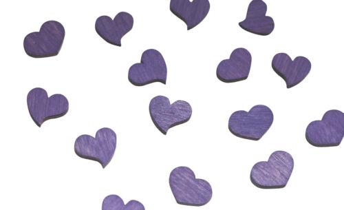 230 lots holzherzen Violet Bois Coeur Mariage Table Bijoux lilas violet DECO