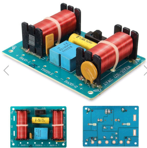 3 Ways Audio Speaker Crossover 100W Filter Divisor For Frequency Low