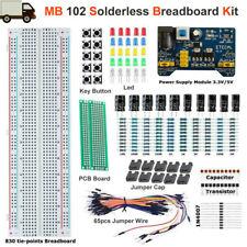 Mb 102 Solderless Breadboard Protoboard 830 Tie Points Test Pcb Learning Set Kit