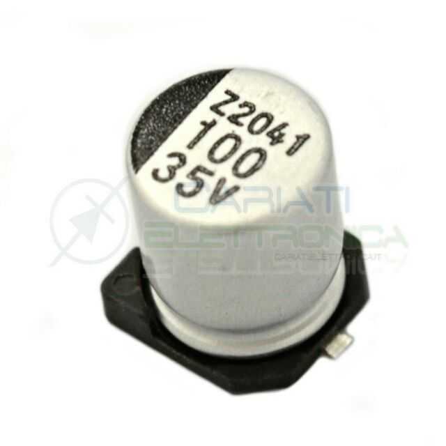 Condensatore Elettrolitico 100uF 16V 85°C 5x11mm Radiale 5 Pezzi
