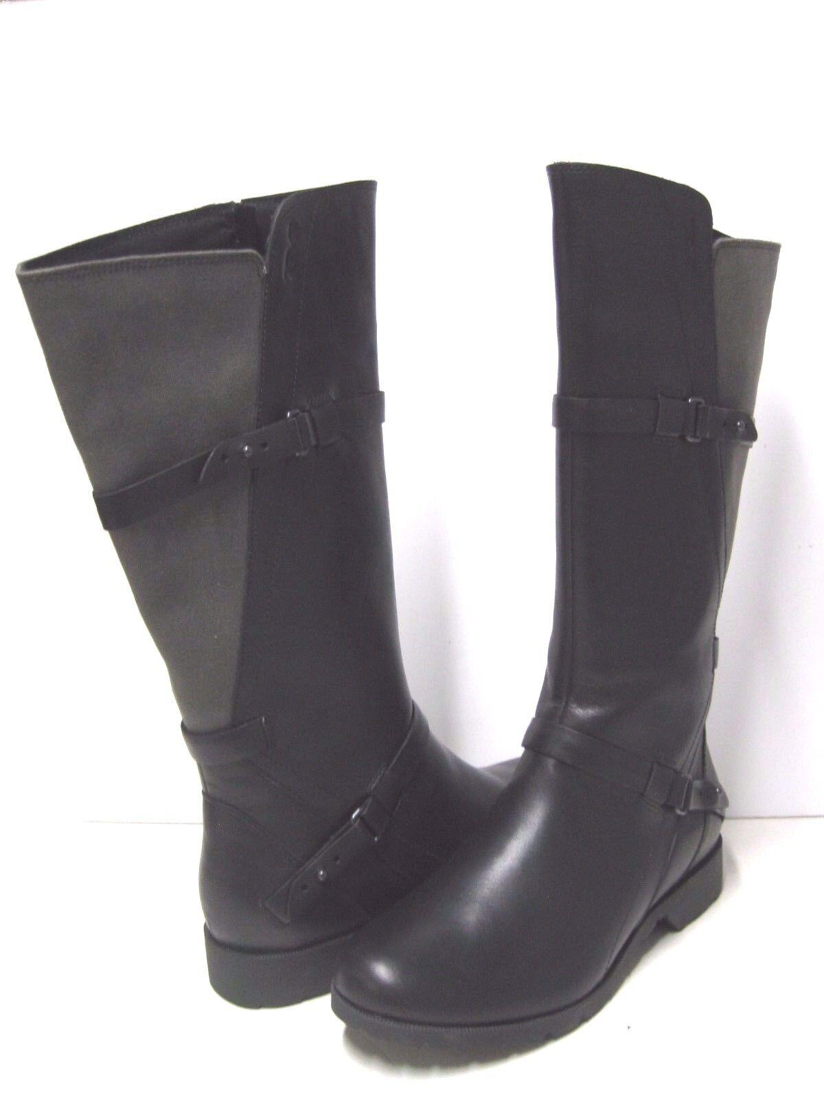 Teva De La Vina Mujer botas Altas Cuero 7 Lona Negra EE. UU. 7 Cuero UK 5 EU 38 Japón 24 16f345