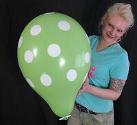 "5 x 16"" Qualatex POLKA DOTS Luftballons GRÜN / LIME GREEN *ROCKABILITY*SALE*"