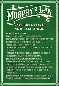 Murphy-039-s-Law-Tole-Bouclier-Bouclier-courbe-Metal-Tin-Sign-20-x-30-cm-fa0118