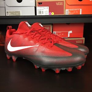 339f91eb7 Nike Vapor Untouchable Pro Grey Red Football Cleats Men s Size 15 ...
