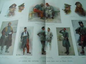 Ouvert D'Esprit Illustration La Guerre Des Nations Etudes Peintes D'après Nature Ww Print 1915