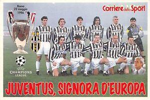 Cartolina-Calcio-Juventus-signora-d-039-Europa-Roma-1966