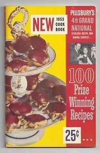 Vintage Pillsbury 4th Grand National Recipe Cook Book 1953