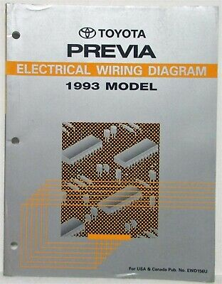 1993 Toyota Previa Electrical Wiring Diagram Manual US ...