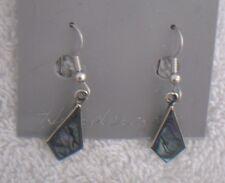 Earrings Kite shaped Abalone Shell Alpaca new small