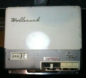 VINTAGE-ORIGINALE-WOLLENSAK-Mulinello-STEREO-T-1515-per-REEL-TAPE-RECORDER-tubo-a-vuoto