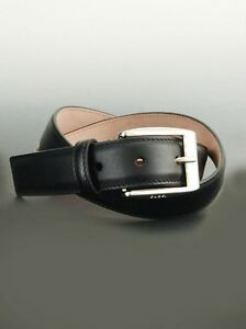 b8460312245 NWT Gucci Mens Black Leather Belt with Classic Square Buckle 336831 ...