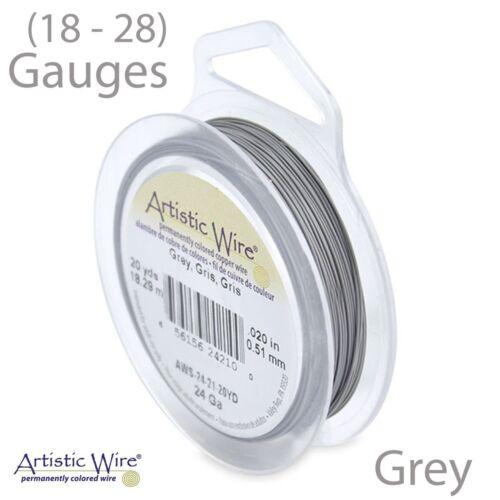 18-28 GA Grey Tarnish Resistant Artistic Wire Gray Wire